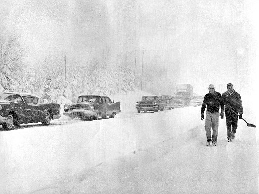 november 1957 lake effect snow event